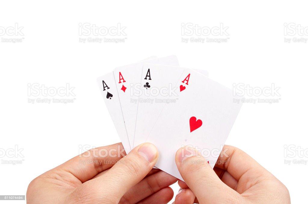 Poker of Aces stock photo