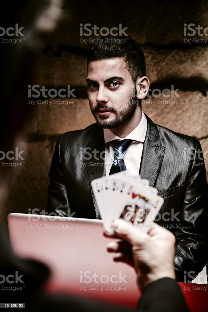 Poker on-line Concept stock photo