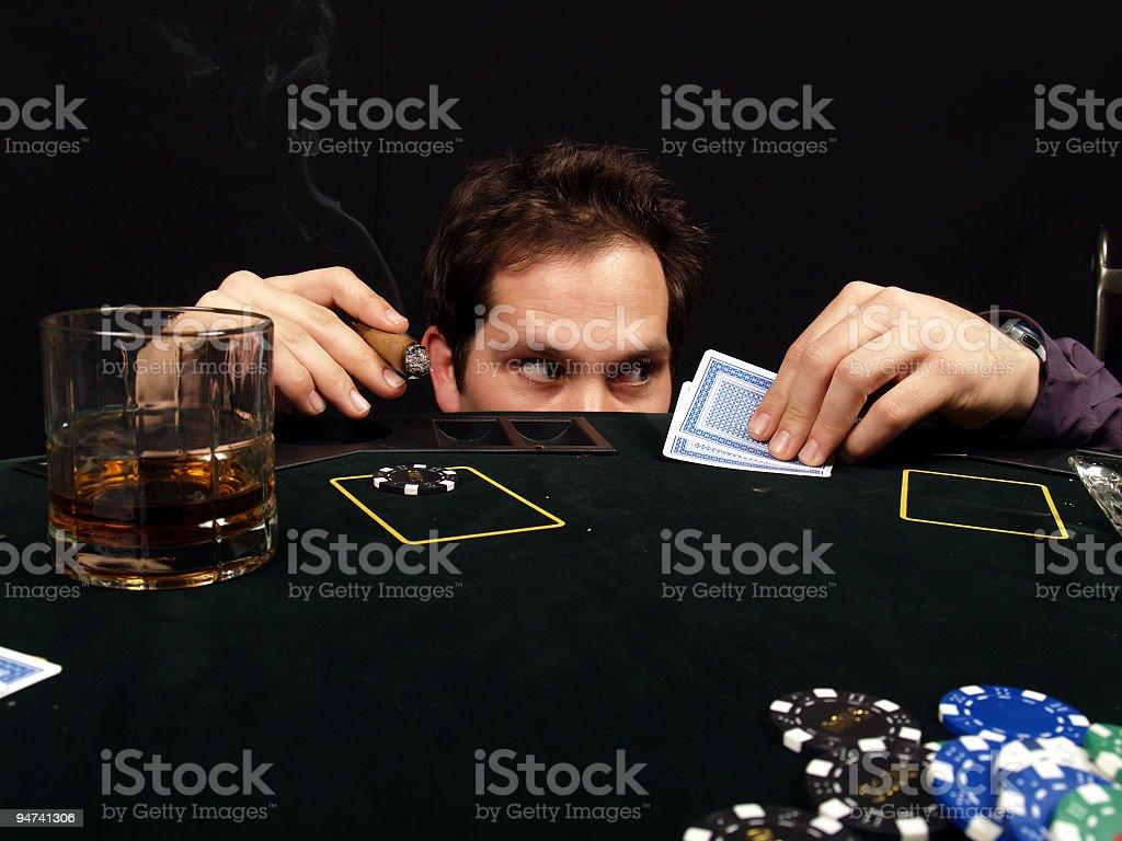 Poker Paranoia royalty-free stock photo