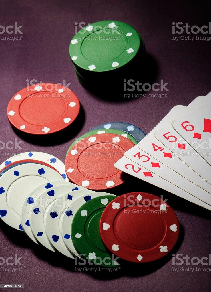 Póquer foto de stock libre de derechos