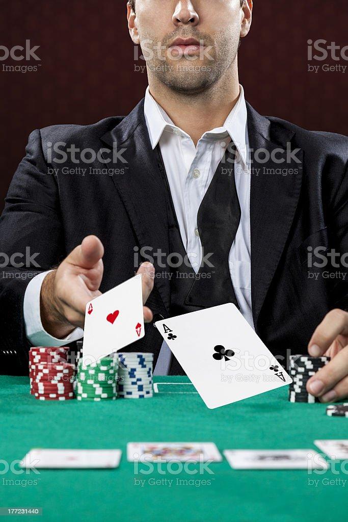 Poker player stock photo