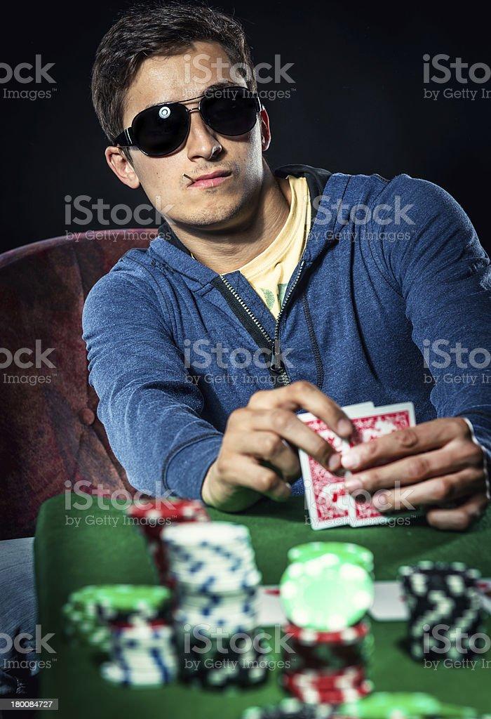 Poker player royalty-free stock photo