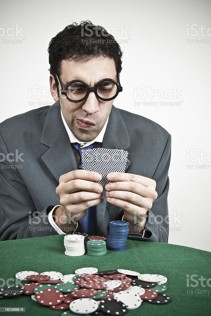 Poker player. royalty-free stock photo