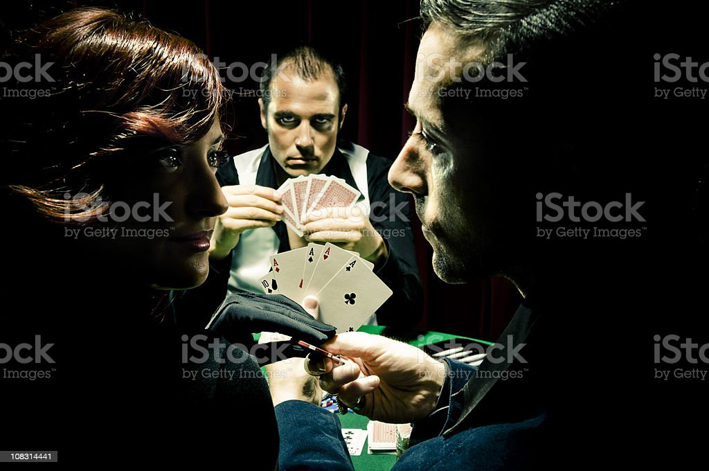 Poker Players stock photo