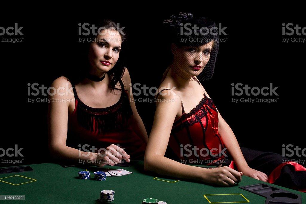 Poker players royalty-free stock photo