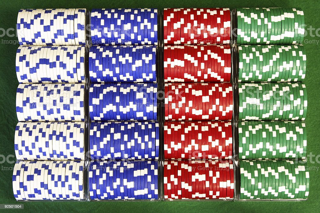 Poker- Racks of Chips royalty-free stock photo