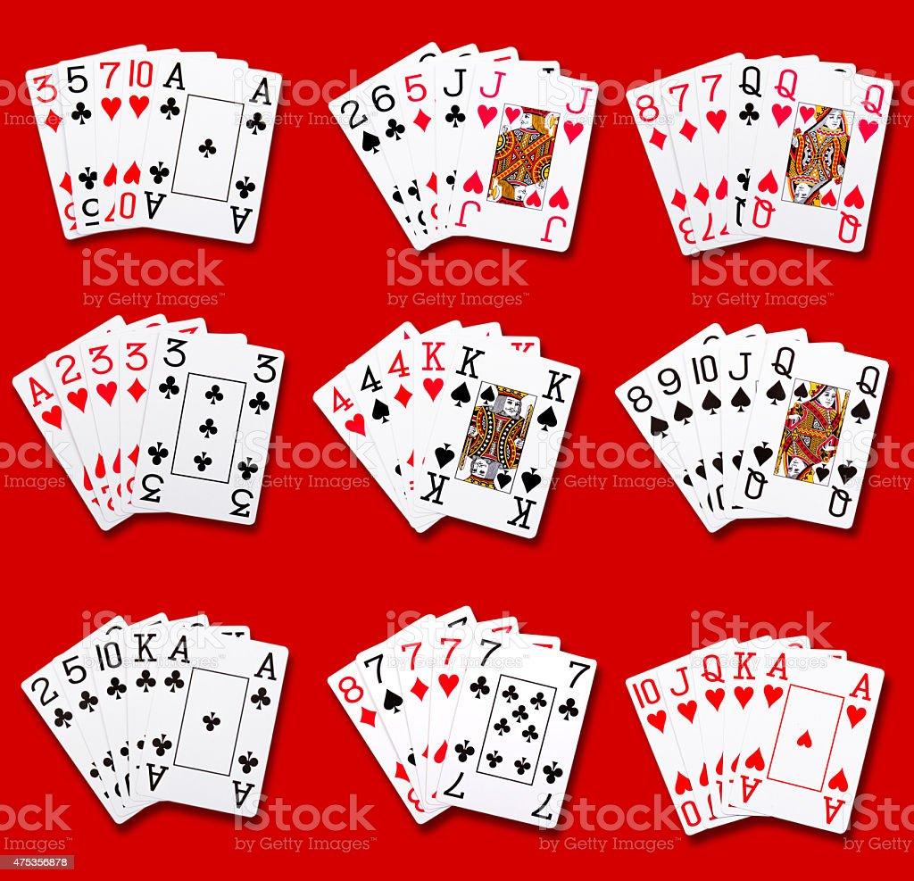 Poker rankings stock photo