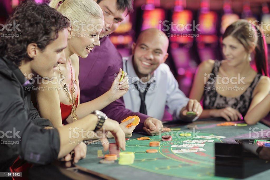 poker room stock photo