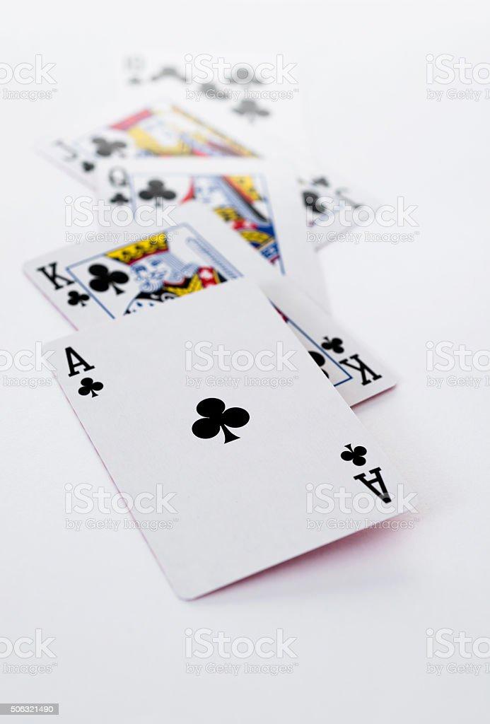 Poker royal flush stock photo