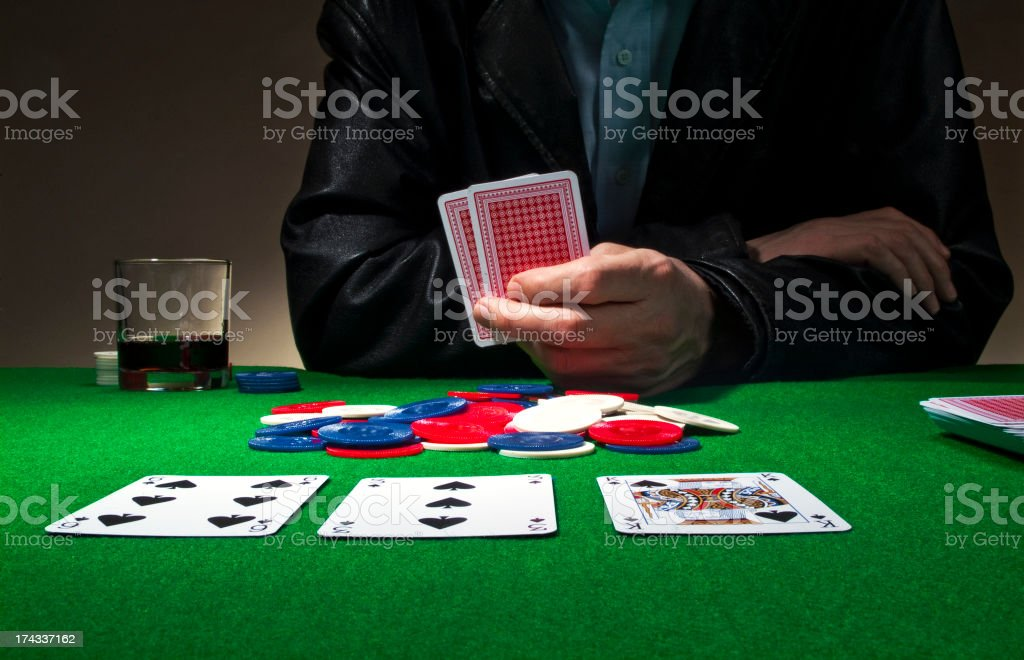 Poker Series stock photo