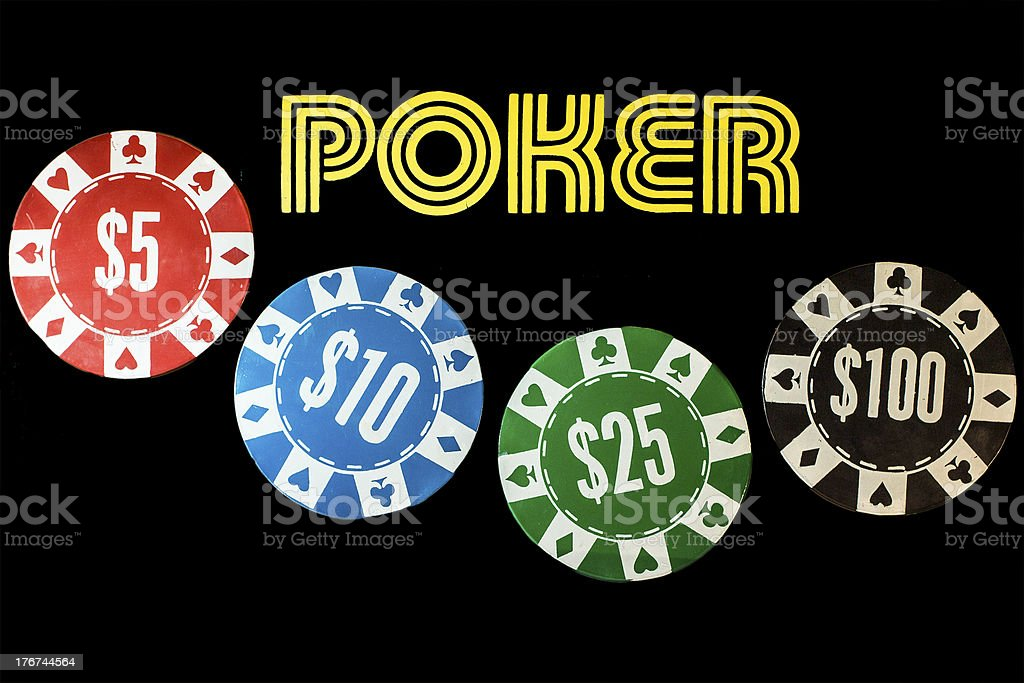 Poker sign with chips royalty-free stock photo