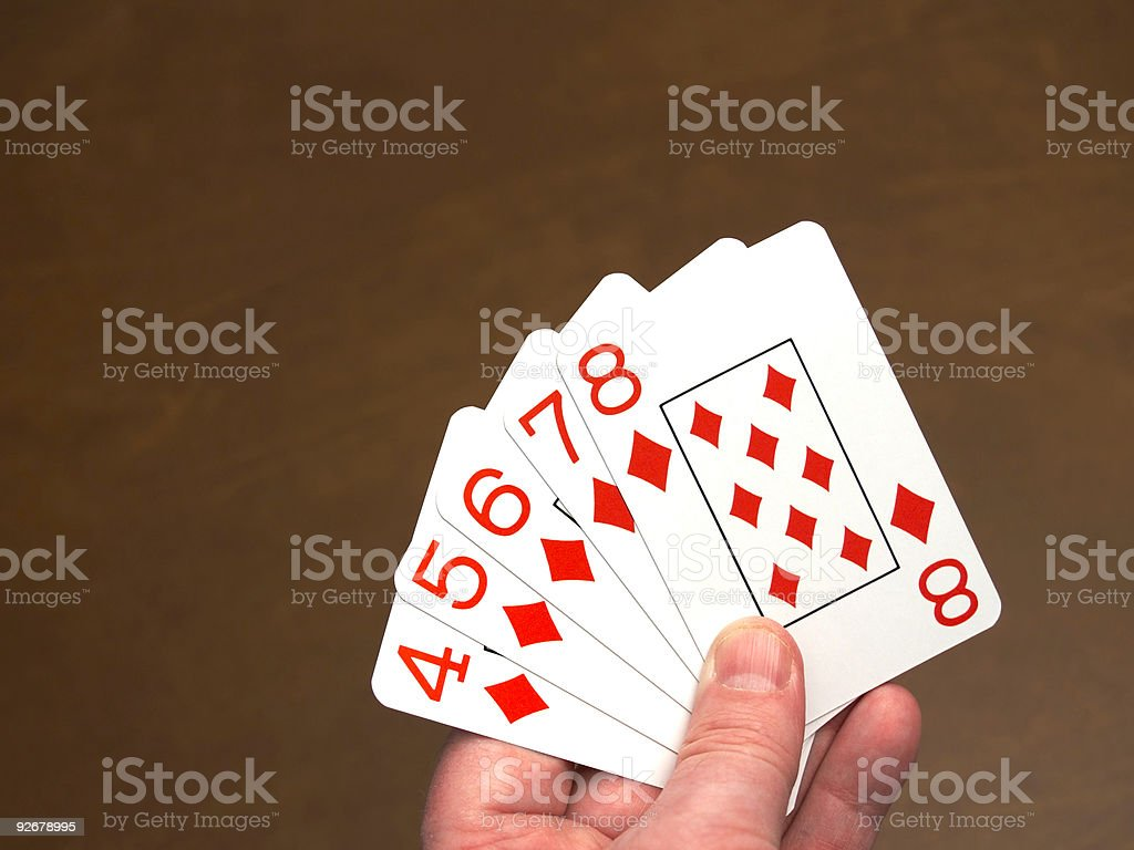 Poker, straight flush royalty-free stock photo