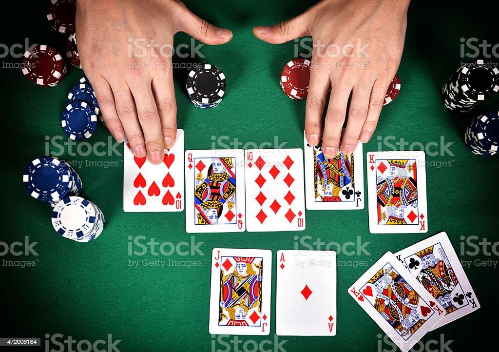 poker Street stock photo
