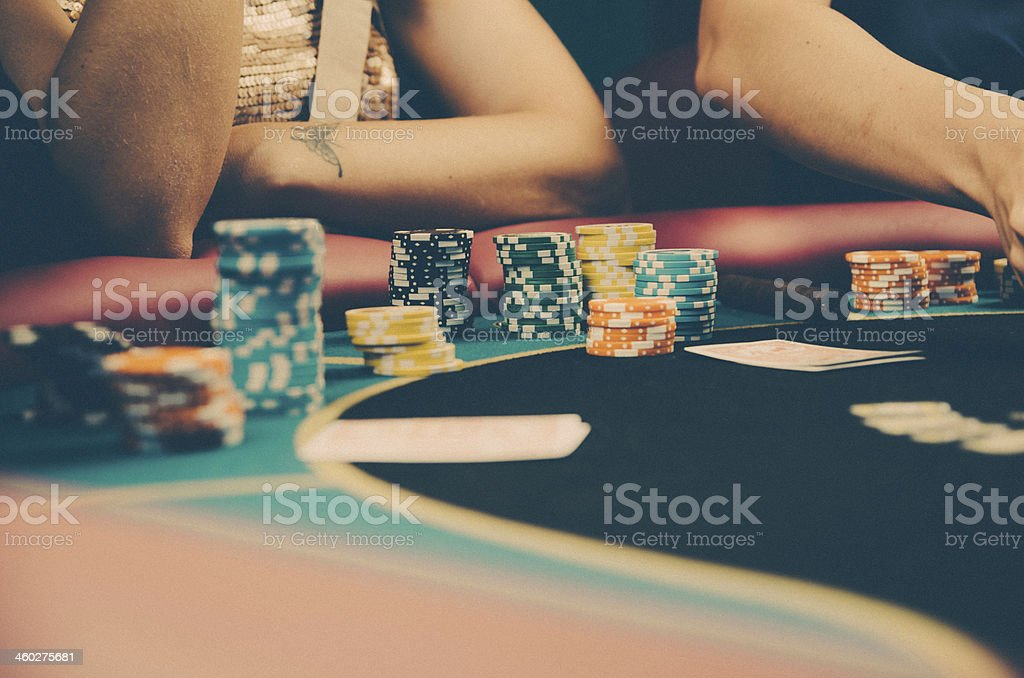 Poker table detail royalty-free stock photo