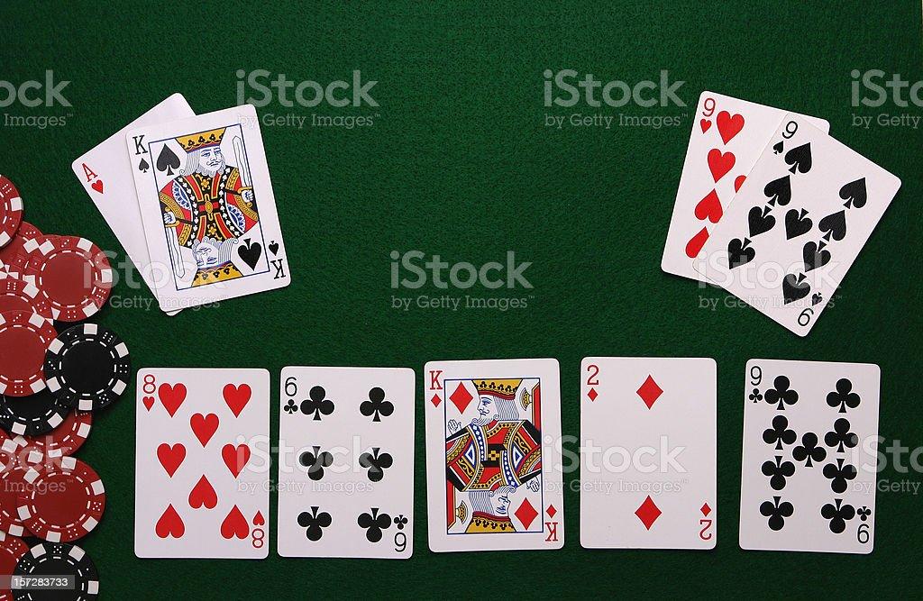 Poker table Interface stock photo