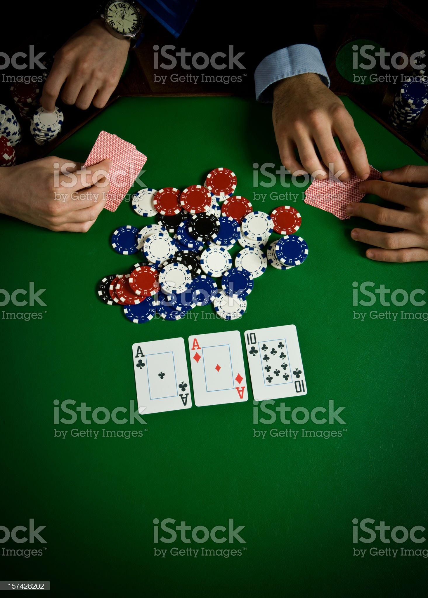 Poker table royalty-free stock photo