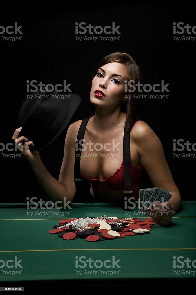 Poker Vixen stock photo