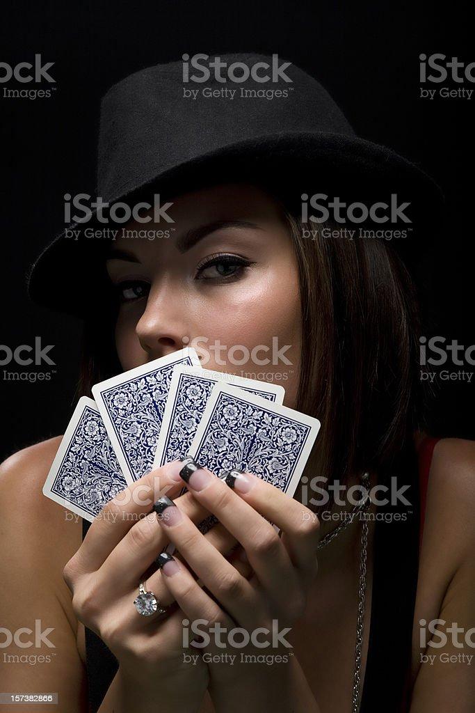 Poker Vixen royalty-free stock photo