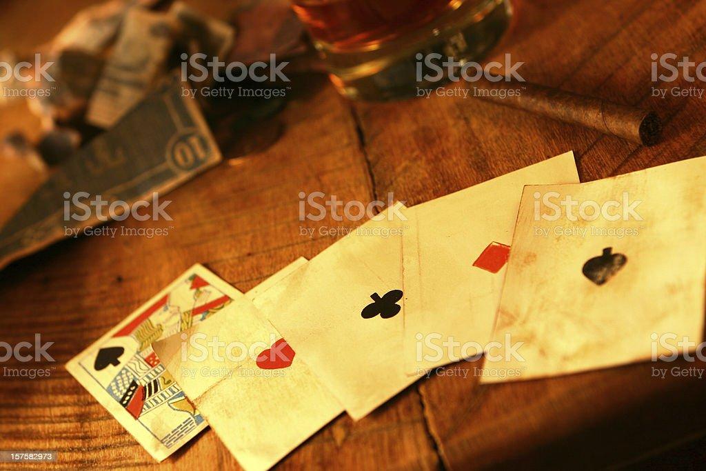 Poker - Wild West Style stock photo