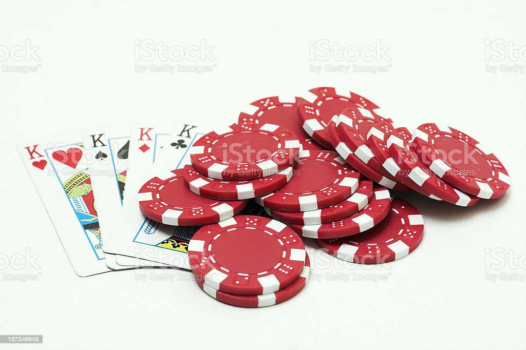 Pokerchips and cards stock photo