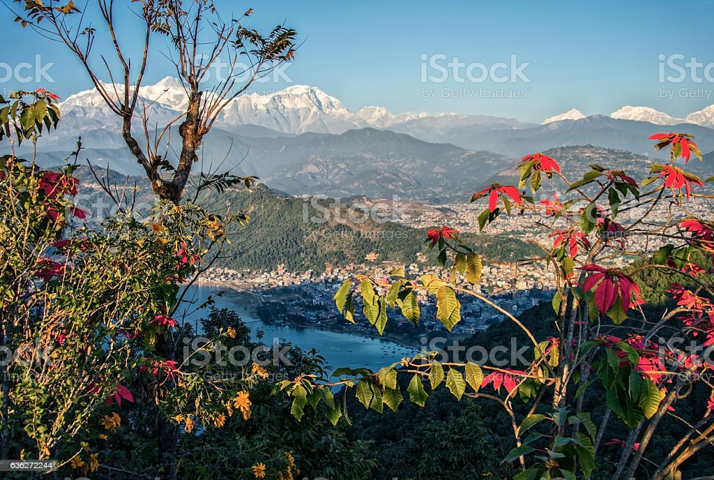 Pokhara and Annapurna region stock photo