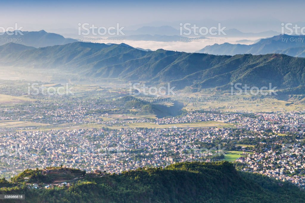 Pokhara city stock photo