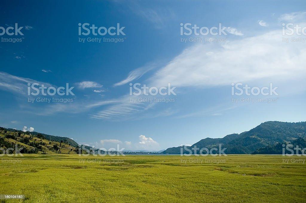 Pokhara Nepal Ricefields royalty-free stock photo