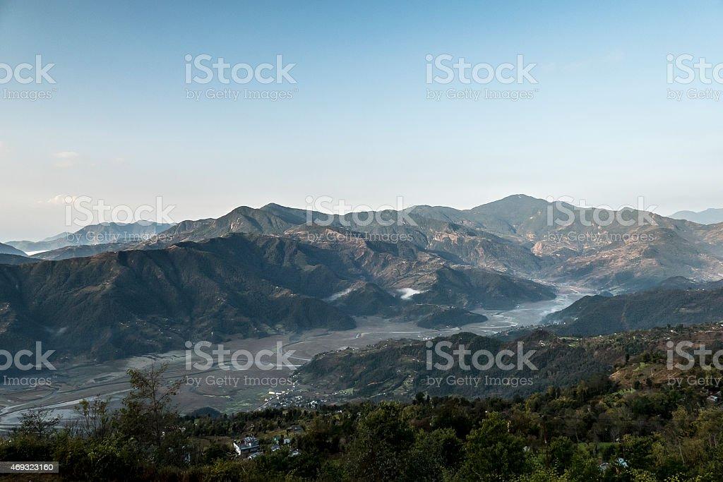 pokhara plateau stock photo