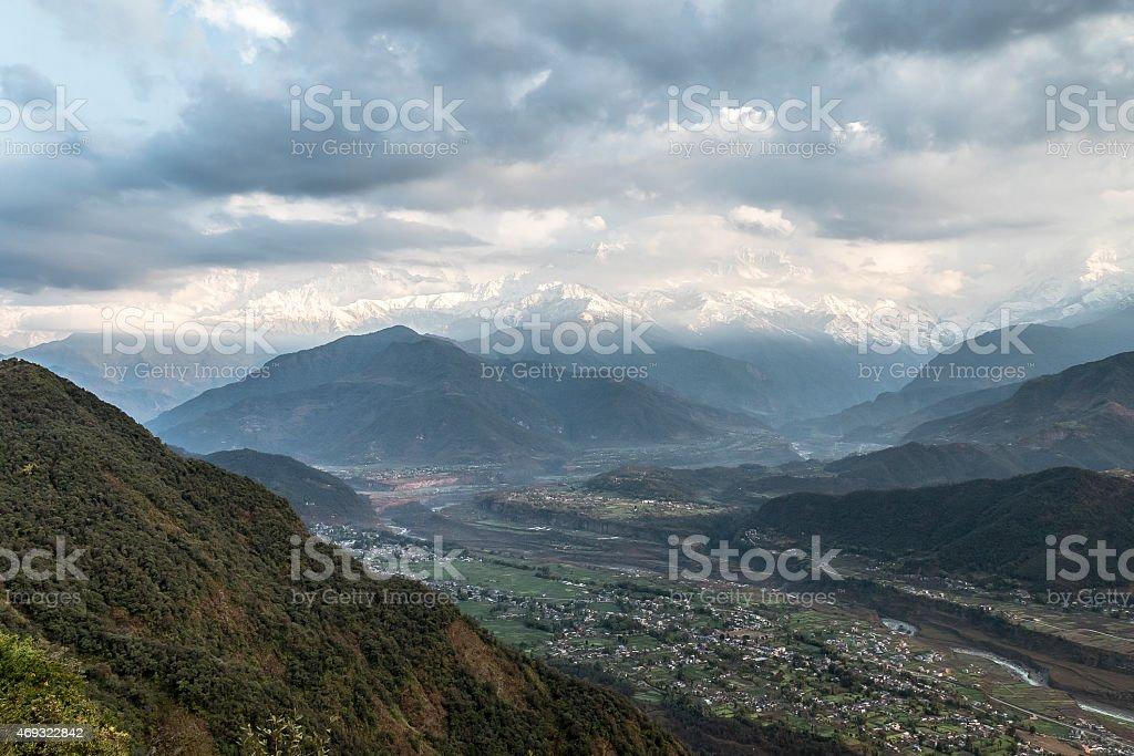 pokhara valley stock photo