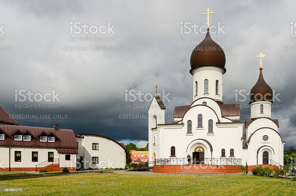 Pokrovo - Nicholas Church, Klaipeda, Lithuania stock photo