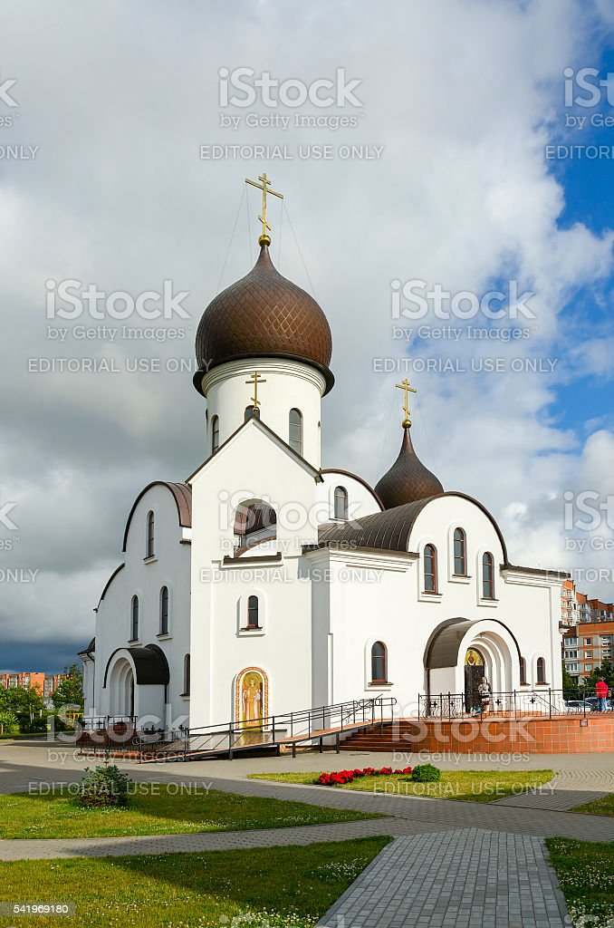Pokrovo-Nicholas Church, Klaipeda, Lithuania stock photo