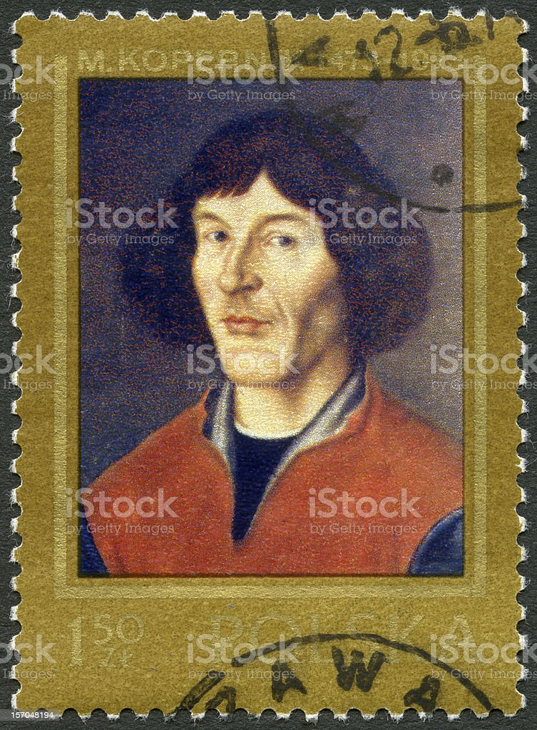 Poland 1973 shows Nicolaus Copernicus (1473-1543) painted in Torun stock photo