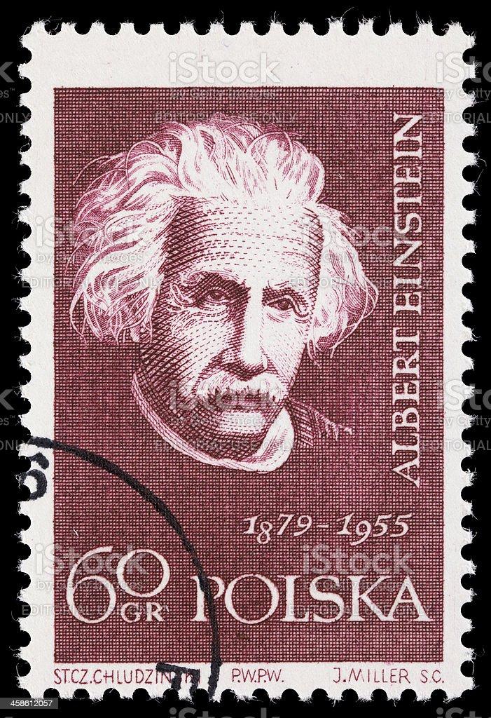 Poland Albert Einstein postage stamp stock photo