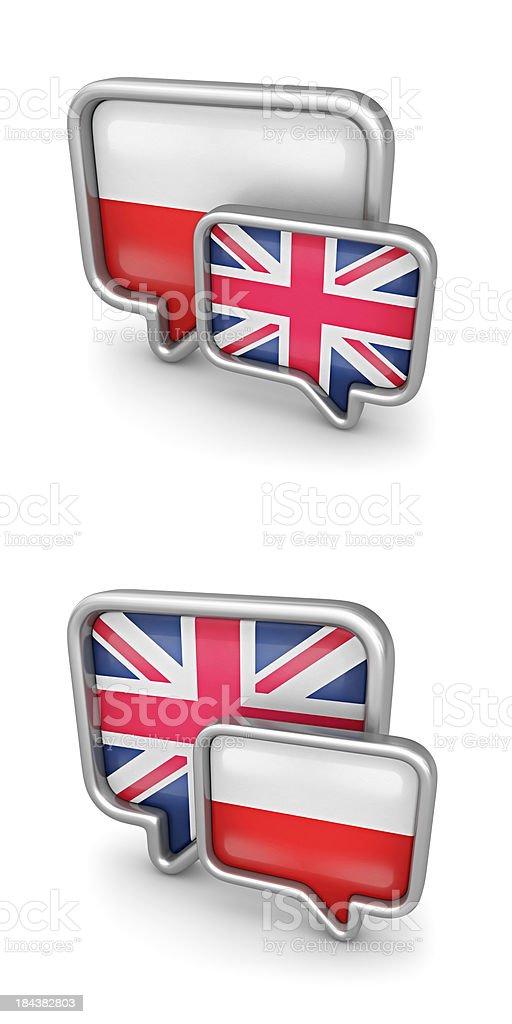 poland - england translation royalty-free stock photo