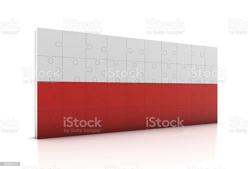 Poland Flag on Puzzle royalty-free stock photo