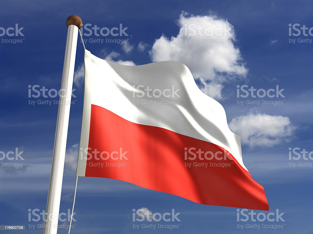 Poland flag (with clipping path) royalty-free stock photo