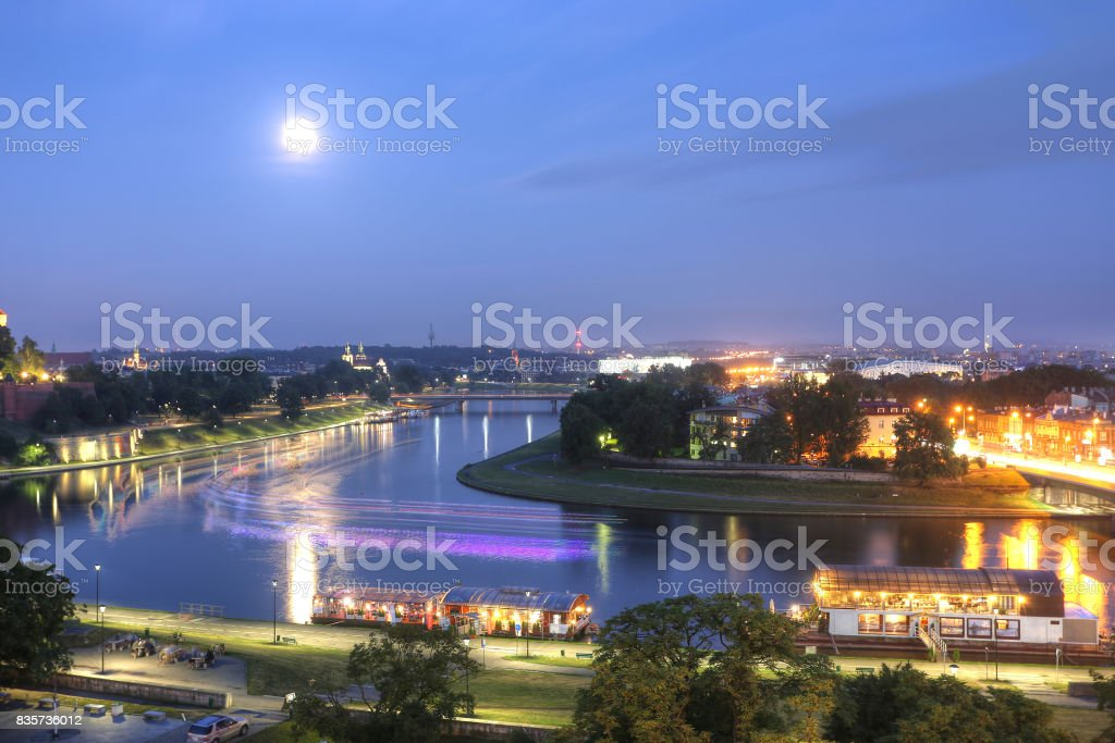 Poland in the sunset. stock photo