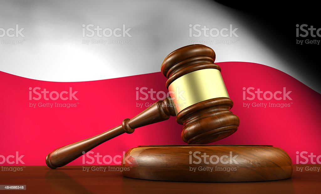 Poland Law And Justice Concept stock photo