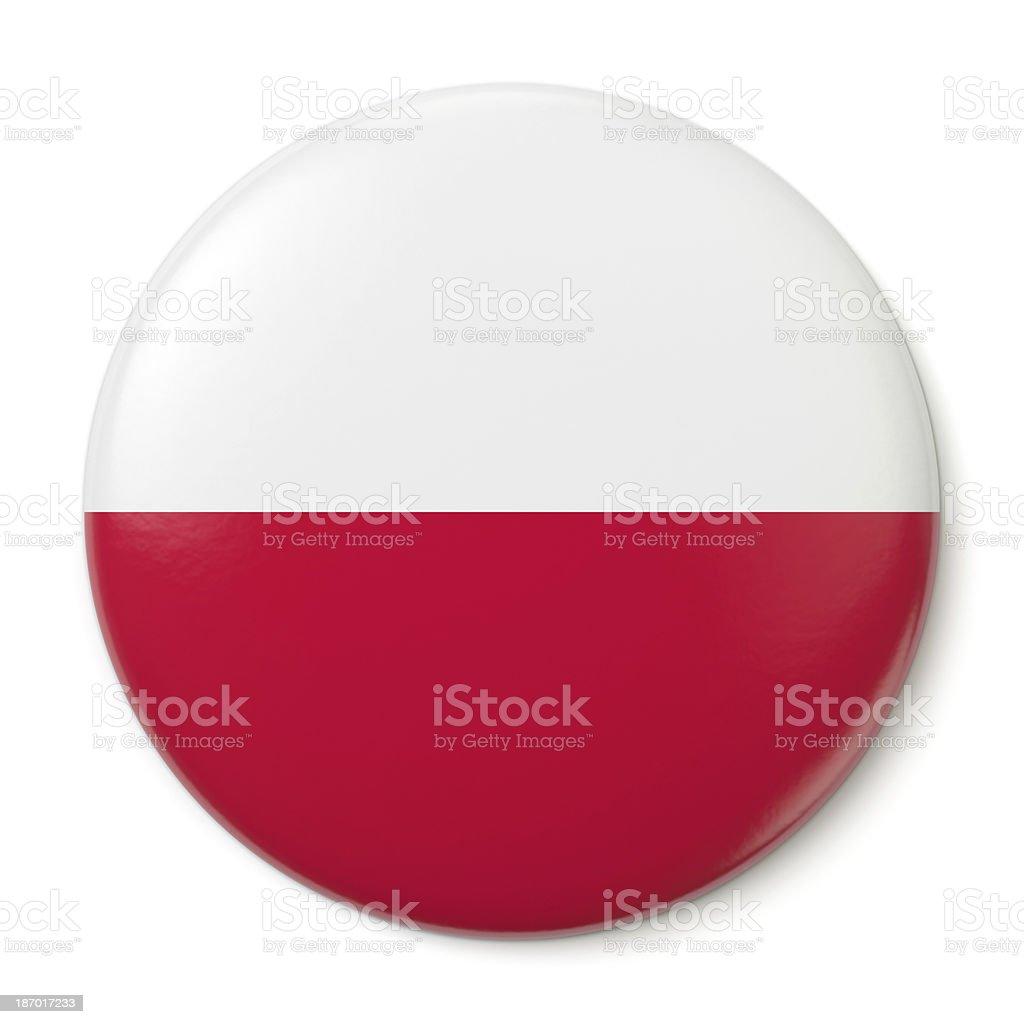 Poland Pin-back stock photo