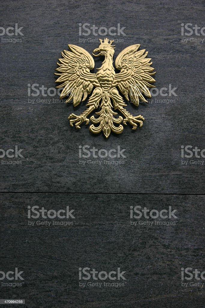 Poland - Polish Golden Eagle stock photo