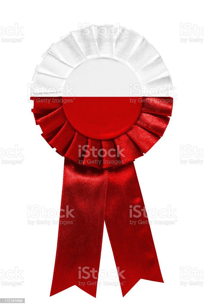 Poland ribbon royalty-free stock photo