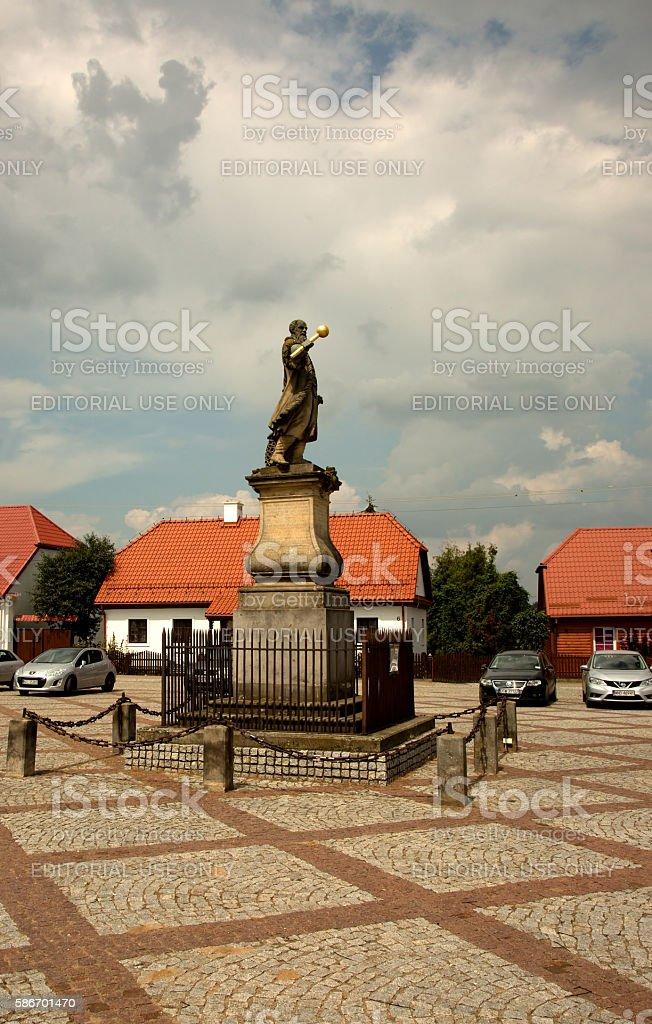 Poland - Tykocin,July 2016.Czarniecki Monument in Tykocin, July stock photo