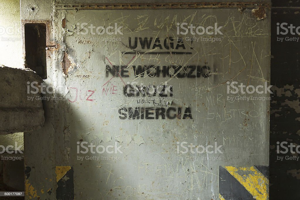 Poland, Zachodniopomorskie, Brzeznica, Disused Cold-war Nuclear Weapons Store stock photo