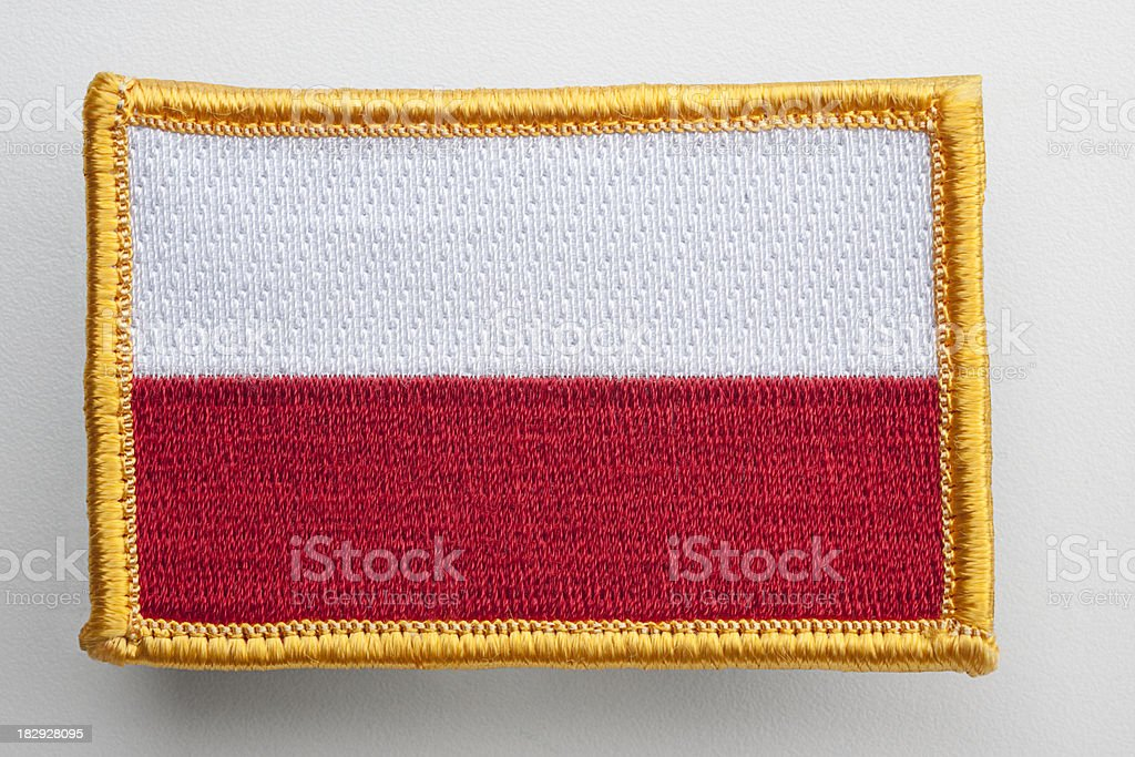 Poland's flag patch. royalty-free stock photo