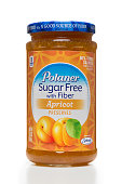 Polaner sugar free with fiber apricot preserves jar