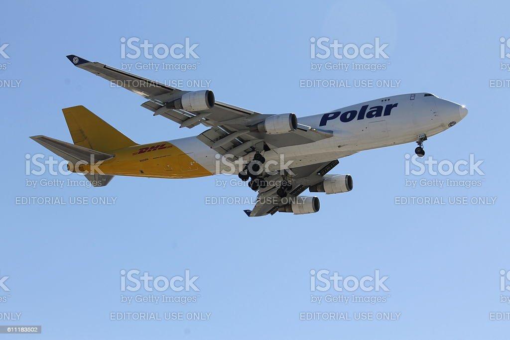 Polar Air Cargo Boeing 747-400F stock photo