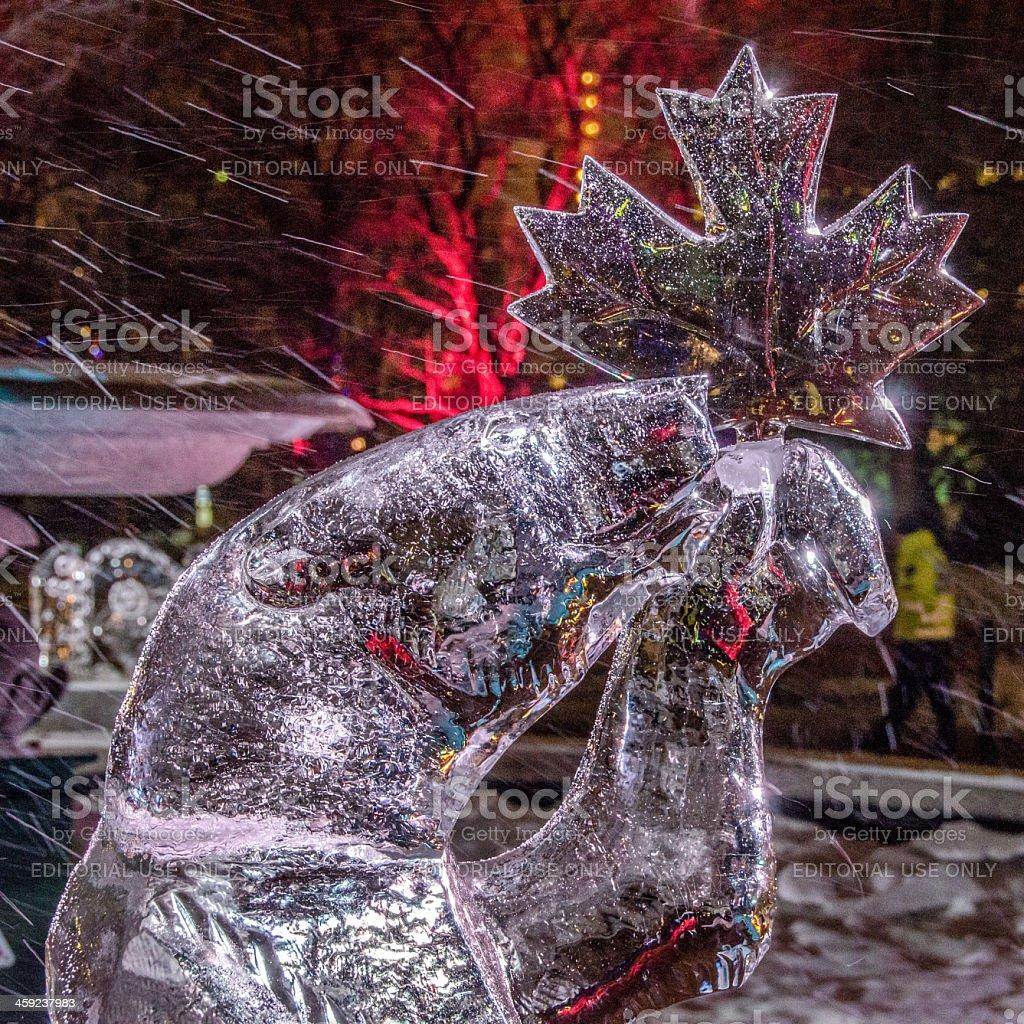 Polar Bear Ice Sculpture (Winterlude) stock photo