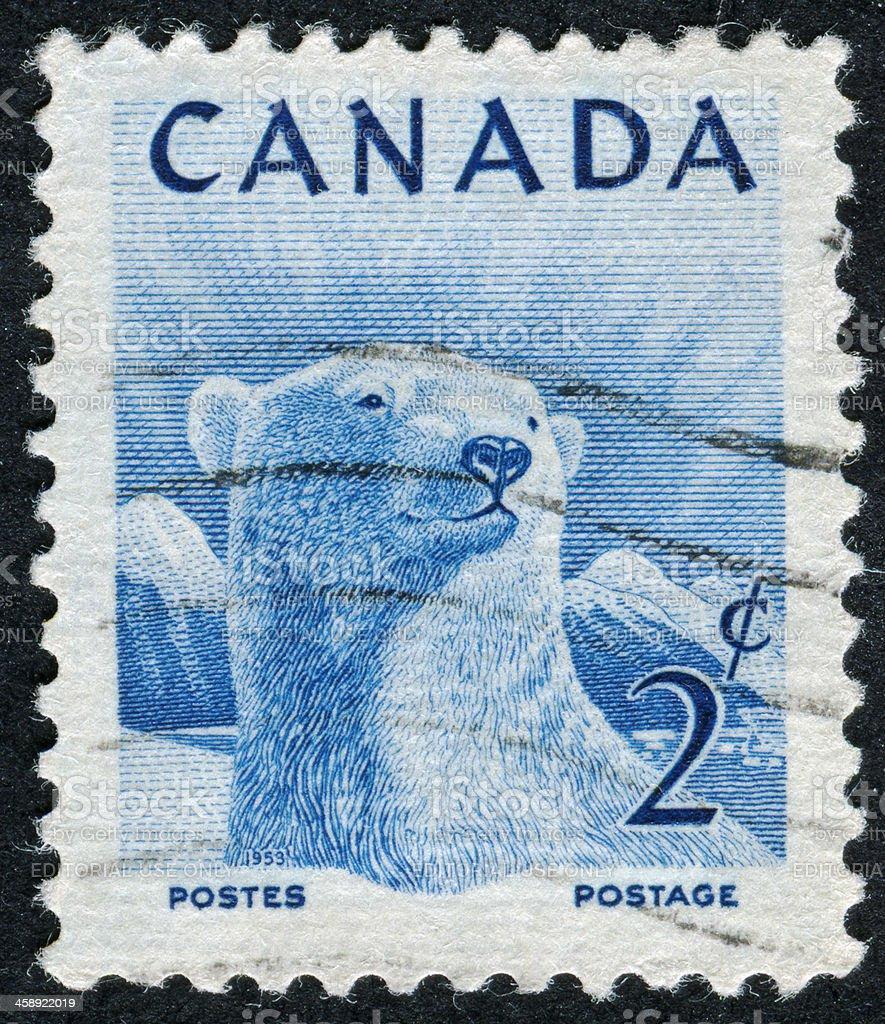 Polar Bear Stamp royalty-free stock photo