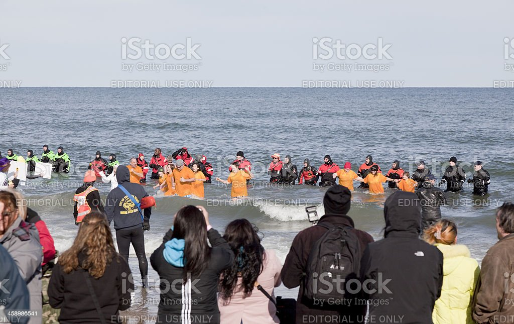 Polar Plunge royalty-free stock photo