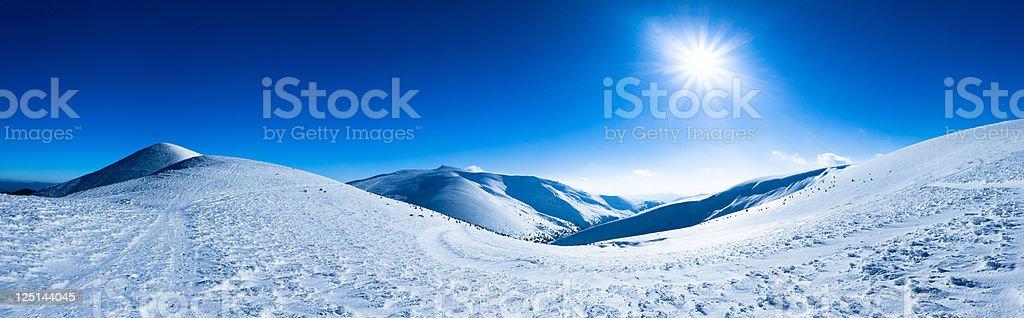 Polar sunshine stock photo